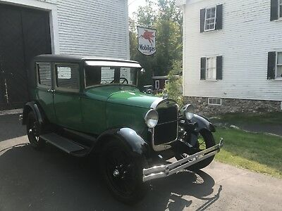 1928 Ford Model A Leatherback, rare cowl vent Original paint and interior , less then 12,000 ORIGINAL MILES, not restored