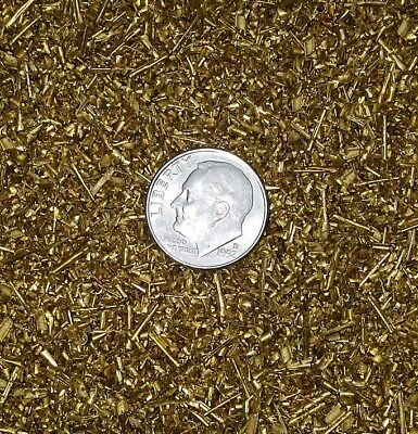 One pound brass powder chips turnings shavings machining 1 lb C360 yellow brass