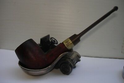 """Estate Straight SMOKER KING ? France Smooth Carved Tobacco Smoking Pipe 5.78"""""""
