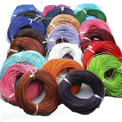 5 Meter Leather Rope String Cord Necklace Jewelry Craft Making Wire 1.5/2.0 mm
