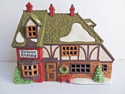 Department 56 Dickens' Viillage Nicholas Nickleby Cottage hand painted porcelain