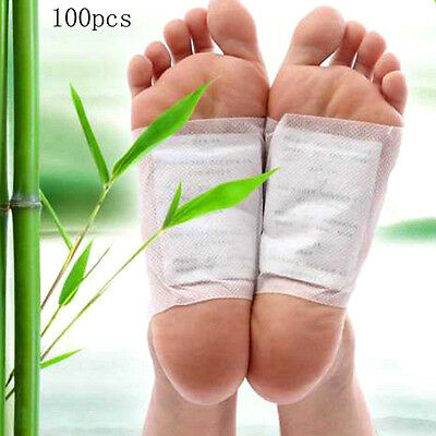 100Pcs Kinoki In Box Detox Foot Pads Patches With Adhesive Fit Health Care u