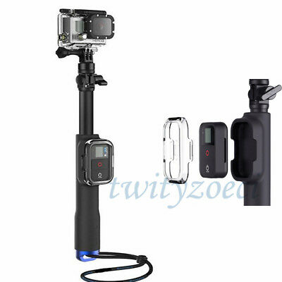 39inch Selfie Stick Handheld Pole + Remote Control Box For GoPro Hero 5 4 3+ 3 2