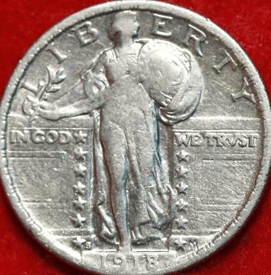 1918-S San Francisco Mint Silver Standing Liberty Quarter Free Shipping