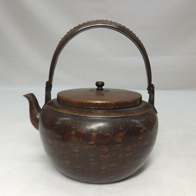 H491: Japanese copper kettle for green tea SENCHA with good taste and work