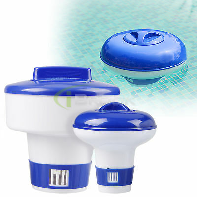 "1/ 3"" Swimming Pool Floating Chlorine Bromine Chemical Tablet Medicine Dispenser"