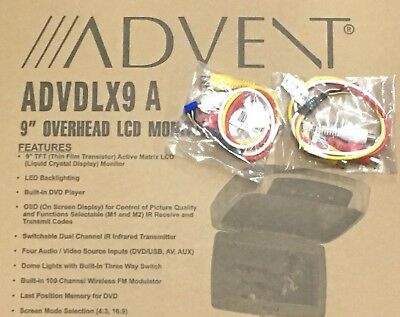 AUX IN & Out Harness ONLY* Advent Overhead DVD Drop down Screen ADVDLX9 & DLX10A