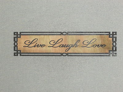 Rustic Style Wood Sign Live Laugh love