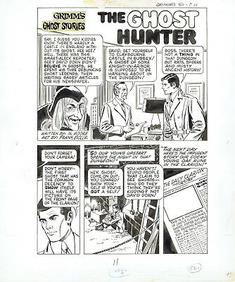 FRANK BOLLE Original Art: Grimm's Ghost Stories 7-page story - EC witch clone