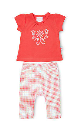 NEW Marquise Short Sleeve Top and Leggings Set Red