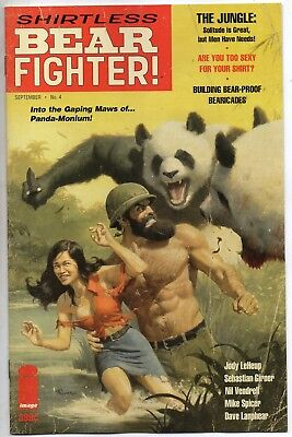 Shirtless Bear Fighter #4 Image Comics Variant B Cover NM