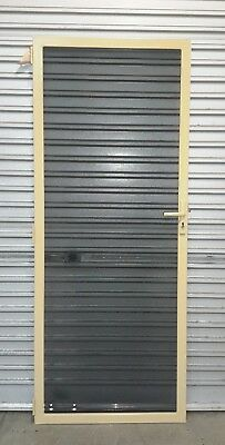 Security Steel Door with Stainless Steel Mesh