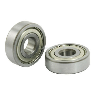 5 Pcs 6200Z Dual Metal Shields Deep Groove Ball Bearing 10x 30 x 9mm Silver Tone