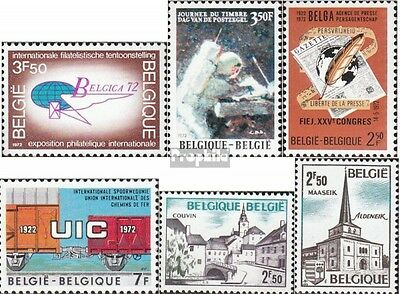 Belgium 1676,1677,1680,1681, 1691-1692 mint never hinged mnh 1972 special stamps