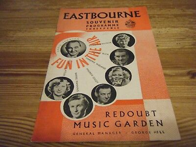 Early Theatre Programme - Fun In The  Air - At Redoubt Music Garden - Eastbourne