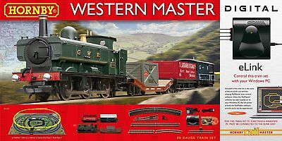 Hornby Western Master With E-Link Dcc 00 Gauge Electric Train Set - Brand New