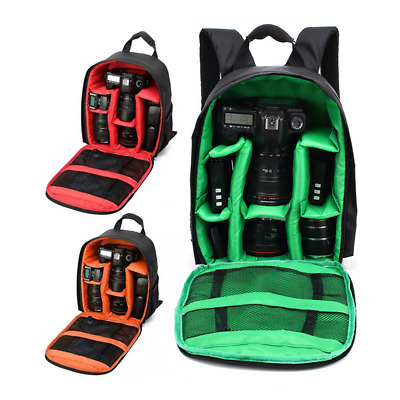 US Waterproof Camera Backpack Bag Case for DSLR and Lens for Canon Nikon Sony