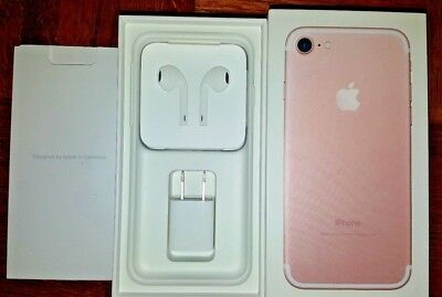 iPhone 7 Rose Gold 32GB retail box + EarPods + USB power adapter