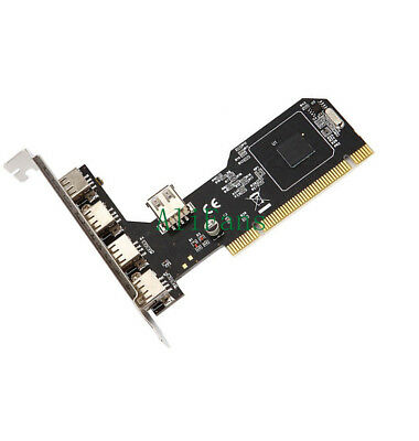 High Speed 480Mbps 5 Port USB 2.0 PCI Hub Card Controller Adaptor Module