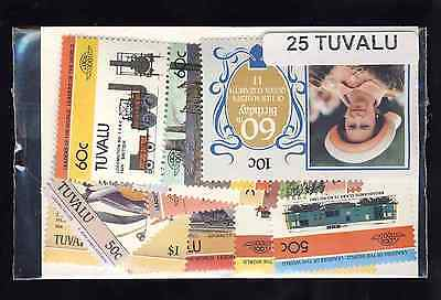 Tuvalu 25 timbres différents