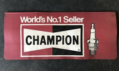 CHAMPION SPARK PLUGS Vintage Protector Work Vinyl Mat Auto Cover Mechanic Garage