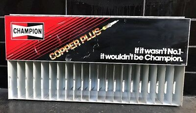 CHAMPION COPPER PLUS SPARK PLUGS RACK WALL CABINET TIN Auto Mechanic Garage