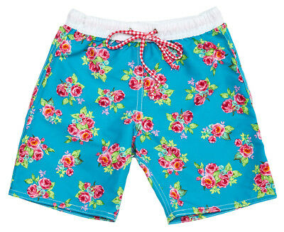 Cupid Girl Baby/Toddler Spring Picnic Birds Short - Blue