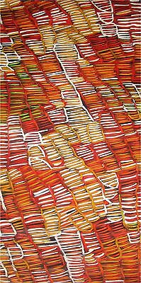 Aboriginal Art abstract Witchetty Grubs Jane Crawford  Print painting poster