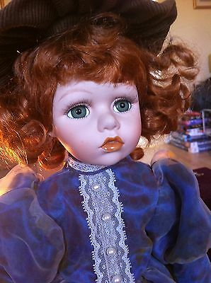 Knightsbridge Collection Kay Porcelain Doll Hand Painted 16 inches Tall