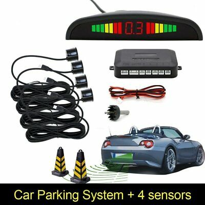 LED Car Parking Reverso Trasero Backup Radar System 4 Sensores Zumbador Buzzer