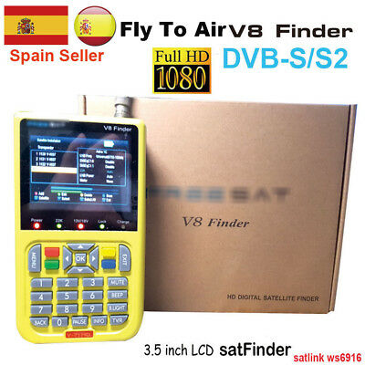 [Genuine] Digital Satellite Finder FTA HD V8 finder Signal Search Meter DVB-S/S2