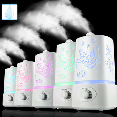 1.5L 4 LED Air Humidifier Ultrasonic Steam Aroma Cool Mist Diffuser Home Decor