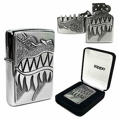 Personalised Collectable Fire Breathing Dragon 28969 Zippo Lighter Engraved Free