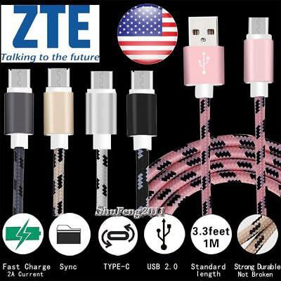 USB 3.1 Type C Charging Phone Data Sync Charger Cable For ZTE Zmax Pro Z982
