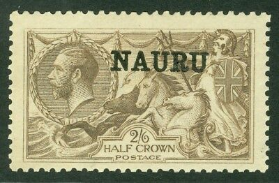 SG 25 Nauru 2/6 pale brown. Fine unmounted mint CAT £80