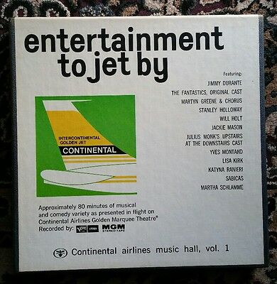 """Rare Reel To Reel Tape for your collection """" Continental Airlines Music"""""""