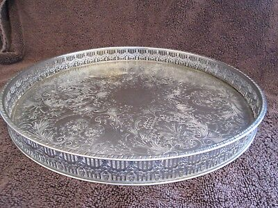 Towle Silver Plated On Copper Tray Sheffield