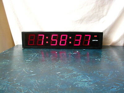 Leitch Dtd-5225R Large Red Led Smpte/ebu Time Code Wall Display