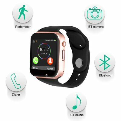 Bluetooth Smart Watch GSM Call MP3 Clock Kids Tracker iPhone Android UK Fast
