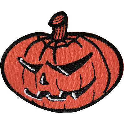 Pumpkin Iron On Patch Embroidered Badge Sew Embroidery Applique Halloween Crafts