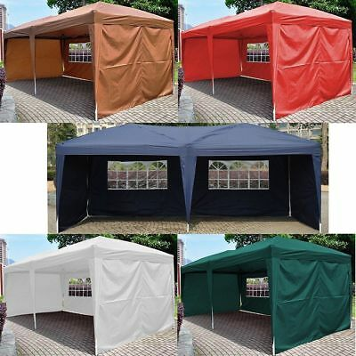 10'X20' EZ POP UP Wedding Tent Party Foldable Gazebo 4 Wall Canopy WCarry Case