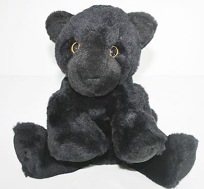 Animal Alley Plush Stuffed Black Panther Cub Jaguar Kitty Cat Jungle Toy Beans