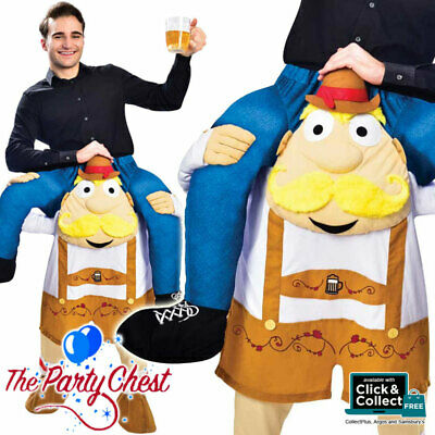 ADULT RIDE ON BAVARIAN BEER MAN COSTUME Oktoberfest Piggyback Fancy Dress 02652
