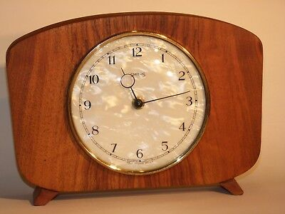 Smiths wind up mantel mantle clock serviced, refurbished and tested
