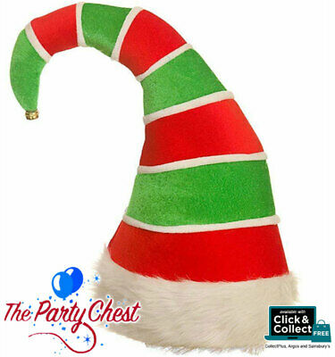 DELUXE PADDED ELF HAT FUNNY CHRISTMAS Party Festive Fancy Dress Accessory XM4640