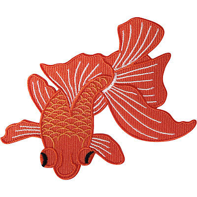 Goldfish Patch Iron On Sew On Embroidered Badge Embroidery Applique Big Eye Fish