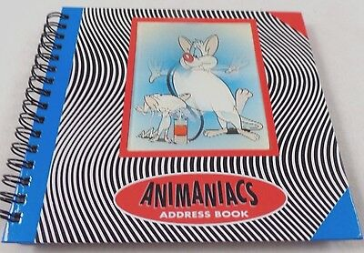 "Pinky & Brain 6x6"" Address Book Lenticular Warner Brothers NEW Looney Tunes wb"