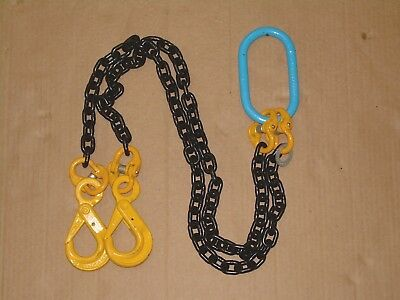 "Lifting Chain Sling, Brothers, Two Leg, SWL 1500kg, 127cm / 50"" Long, New/Unused"
