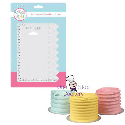 Cake Star Large PATTERNED COMBS Buttercream Scrapers Smooth Edge Cake Decorating