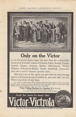 1911 Victor Talking Machine Co Camden NJ Ad: Victor Victrola Grand Opera Stage